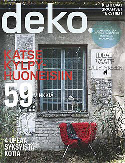 Deko, magazine, interior magazine, October, Finnish interior magazine