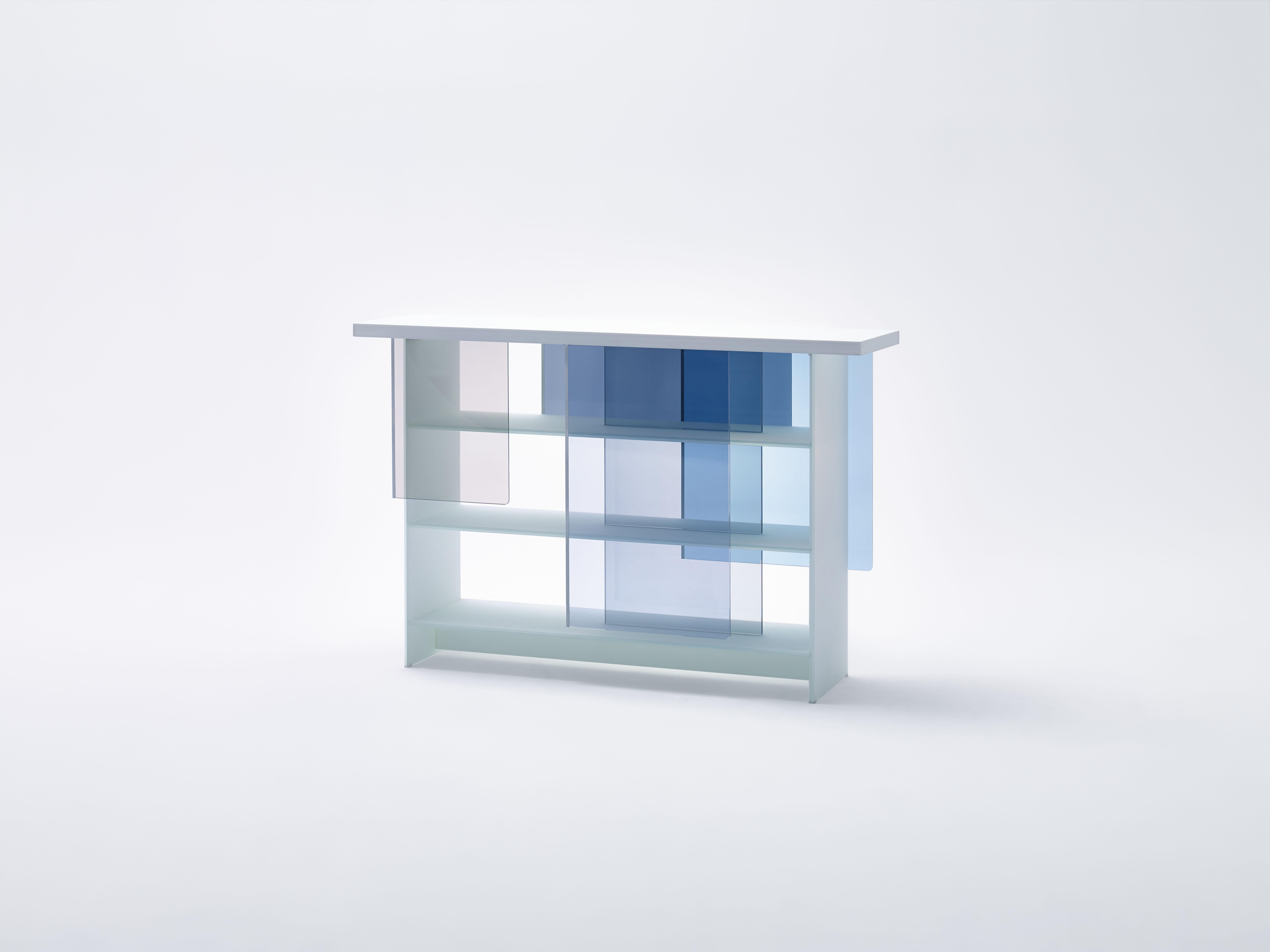 Nendon Glas Italialle suunnittelema lasihylly