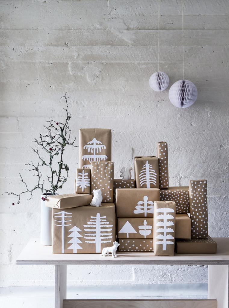 Koristeltuja lahjapaketteja