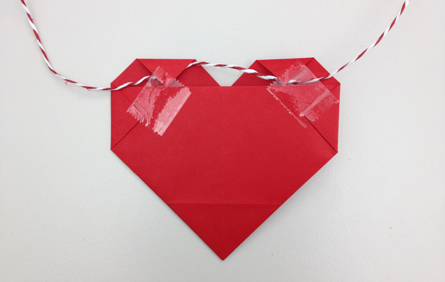 origamisydän-viiri tarvikkeet