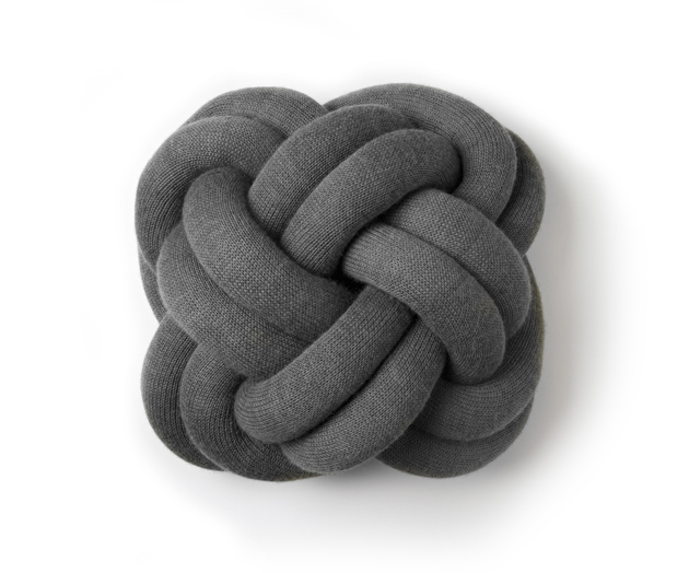 Knot cushion grey iso tyyny harmaa