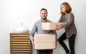 Aalto + Aalto Elina ja Klaus Aalto ja vaneriset Vakka-laatikot