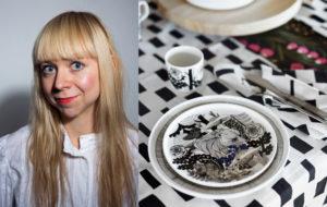 suunnittelija Maija Louekari on tehnyt Marimekolle Suomen 100-vuotisjuhlavuoden kunniaksi Veljekset-kuosin.