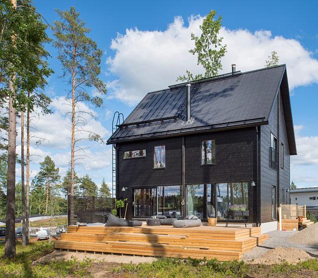Talo Honka Ink Mikkelin asuntomessuilla.