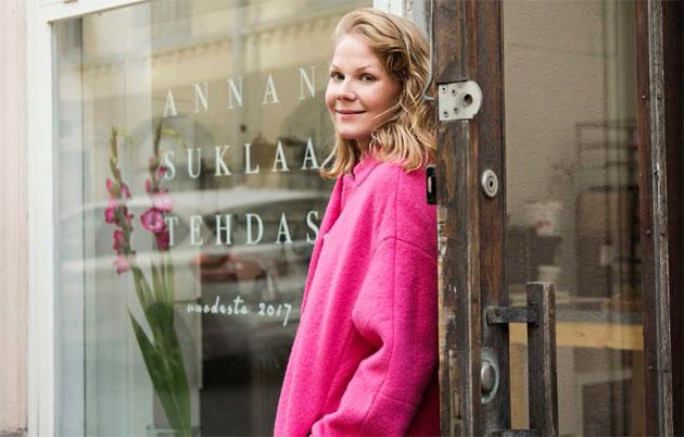 Anna Kekki on punavuorelainen suklaamestari.