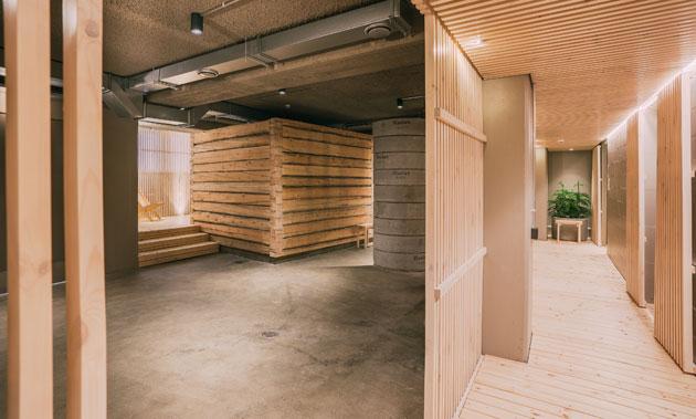 saunan tilat tehtaassa