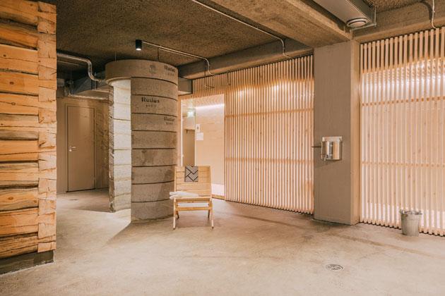 sauna tehtaasa
