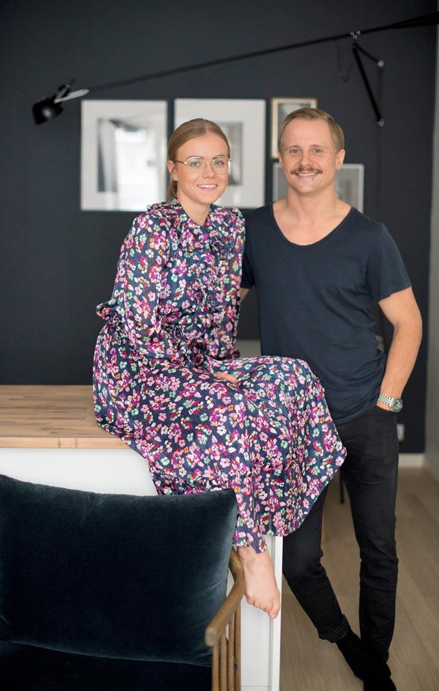 Mona ja Joelin ensimmäinen omistusasunto sijaitsee Töölössä.